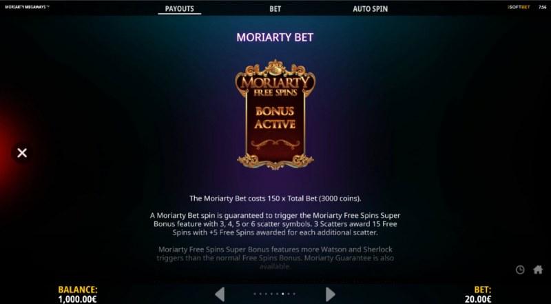 Moriarty Megaways :: Bonus Buy