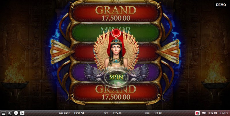 Mother of Horus :: Spin the wheel to win a jackpot