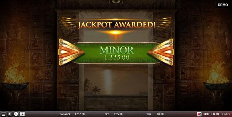 Mother of Horus :: Minor Jackpot awarded