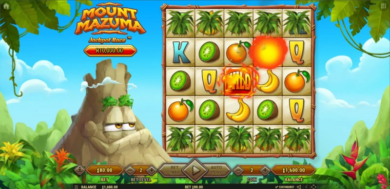 Mount Mazuma :: Extra wilds added to the reels