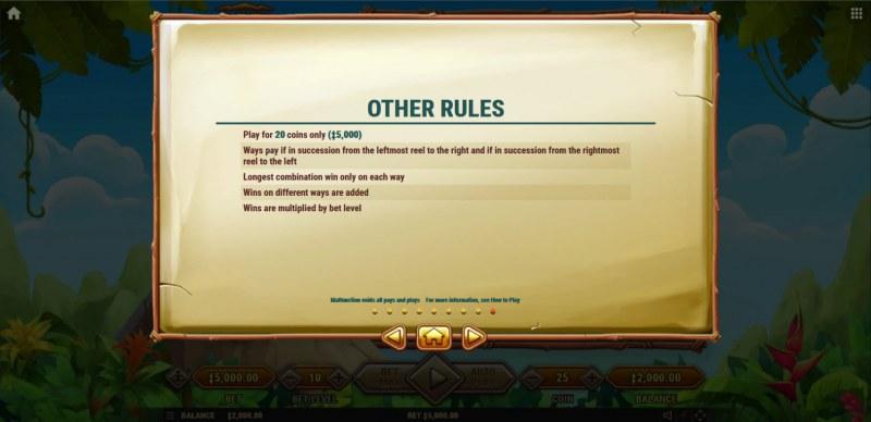Mount Mazuma :: General Game Rules