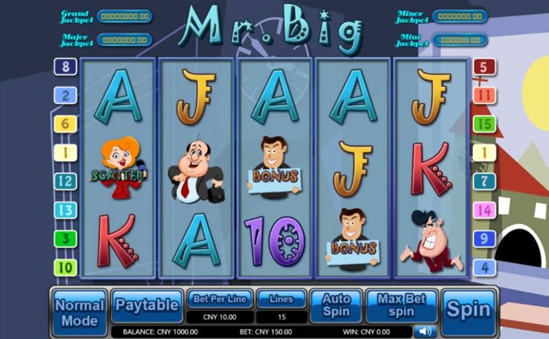 Mr. Big :: Main Game Board