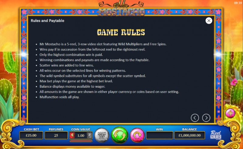Mr. Mostacho :: General Game Rules