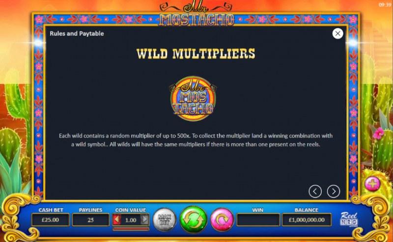 Mr. Mostacho :: Wild Symbols Rules