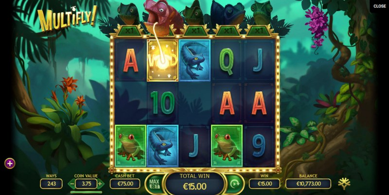 Multifly! :: Wild added to the reels after win