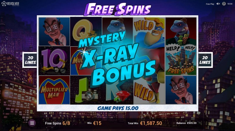 Multiplier Man :: Mystery X-Ray Bonus triggered