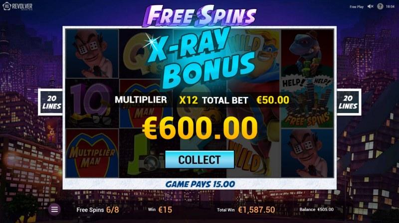 Multiplier Man :: Total bonus payout