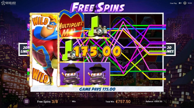 Multiplier Man :: Multiple winning paylines