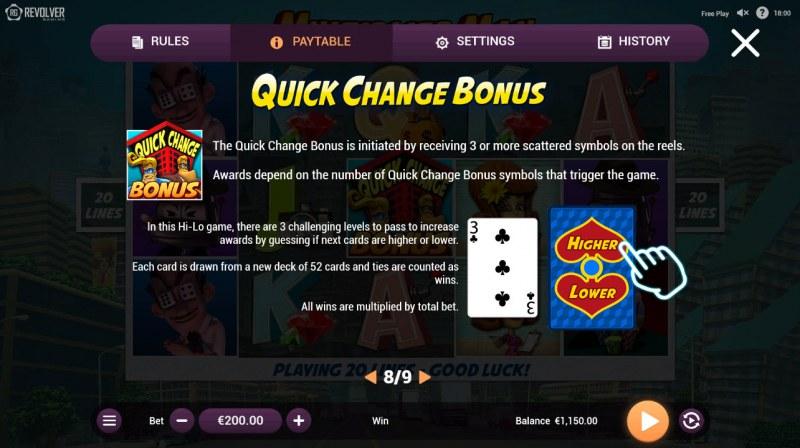 Multiplier Man :: Bonus Game Rules