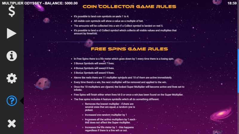 Multiplier Odyssey :: Feature Rules