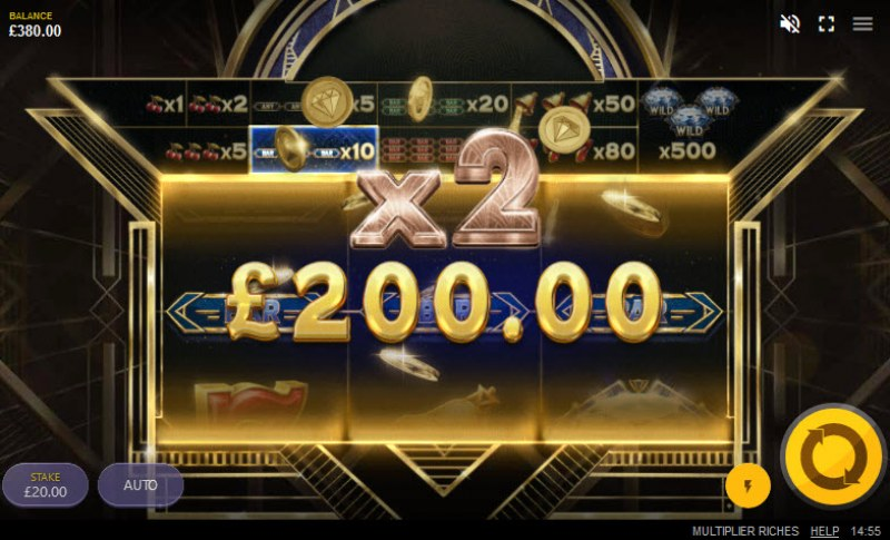 Multiplier Riches :: Three of a kind win