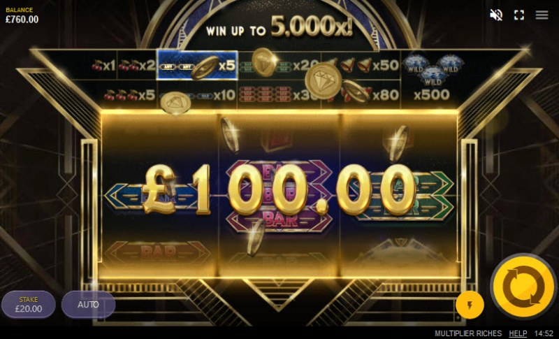 Multiplier Riches :: A win