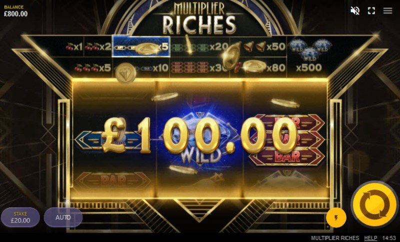 Multiplier Riches :: Respin triggers a win