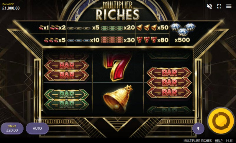 Play slots at Wild Tokyo: Wild Tokyo featuring the Video Slots Multiplier Riches with a maximum payout of $100,000