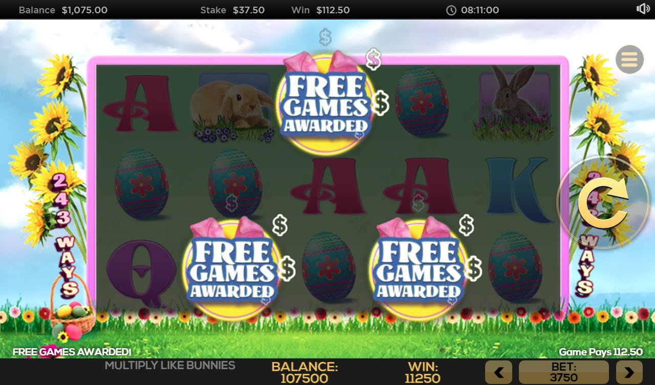 Multiply Like Bunnies :: Free Spins Awarded