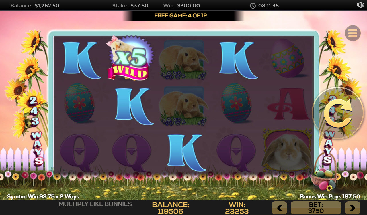 Multiply Like Bunnies :: Free Spins Game Board