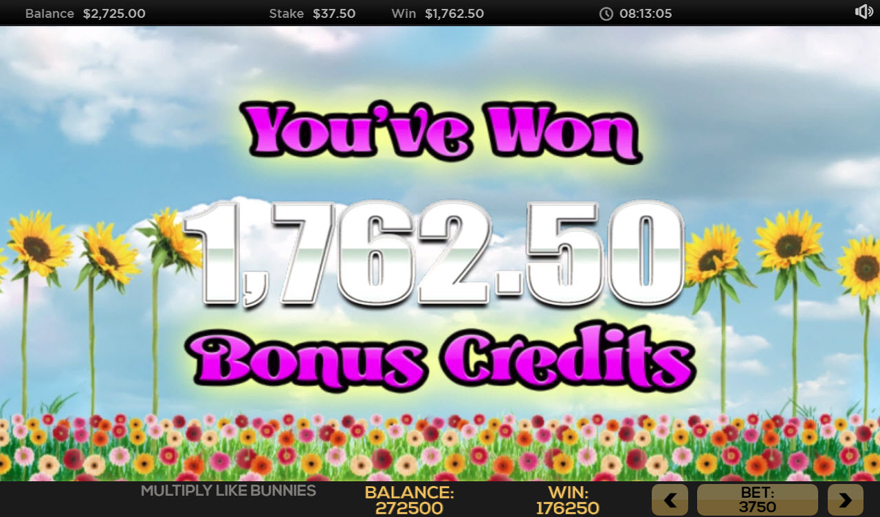 Multiply Like Bunnies :: Total free spins payout