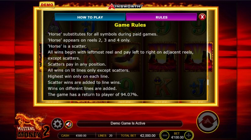 Mustang Money 2 :: General Game Rules