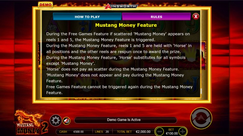 Mustang Money 2 :: Feature Rules
