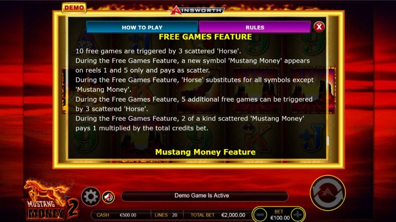 Mustang Money 2 :: Free Game Rules