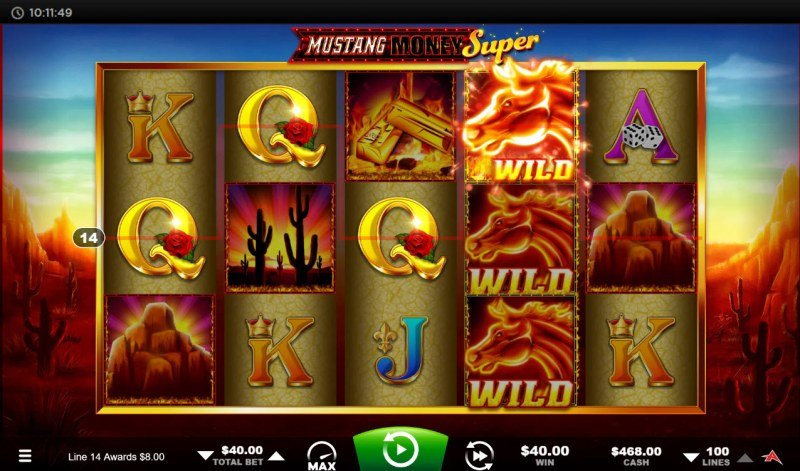 Mustang Money Super :: A four of a kind win