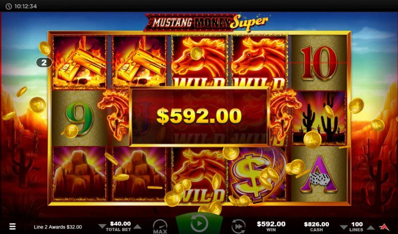 Mustang Money Super :: Multiple winning combinations lead to a big win