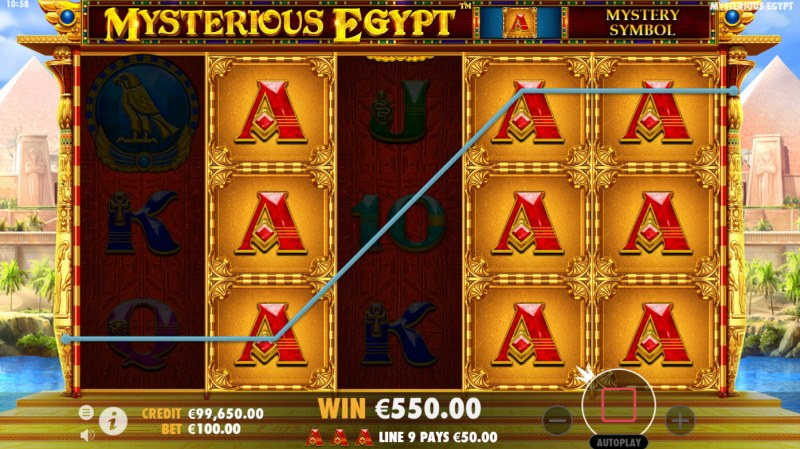 Mysterious Egypt :: Stacked symbol win