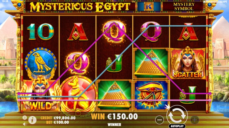 Mysterious Egypt :: Multiple winning paylines