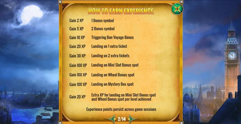 Mystery Express :: How To Earn Experience Points