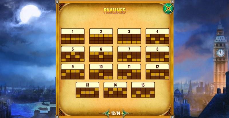 Mystery Express :: Paylines 1-15