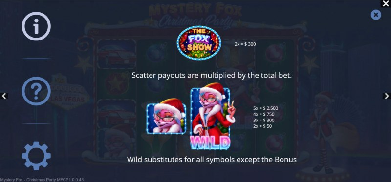 Mystery Fox Christmas Party :: Wild and Scatter Rules