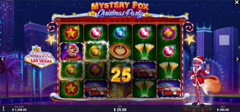 Mystery Fox Christmas Party :: A three of a kind win