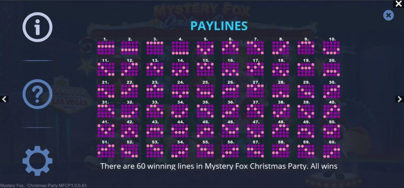 Mystery Fox Christmas Party :: Paylines 1-60