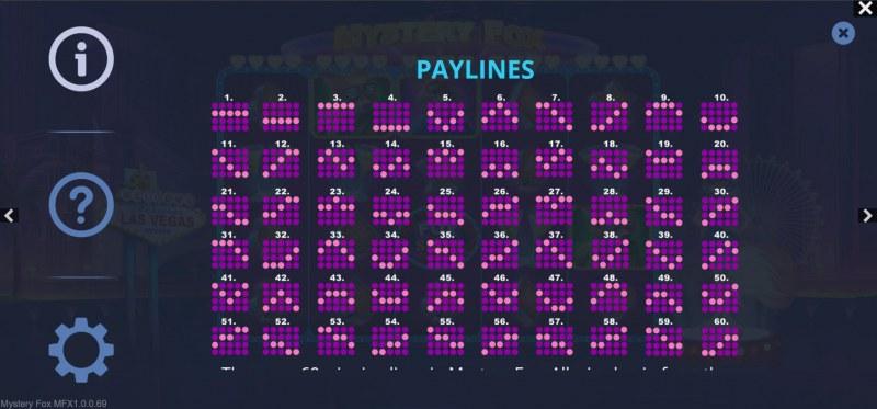 Mystery Fox :: Paylines 1-60