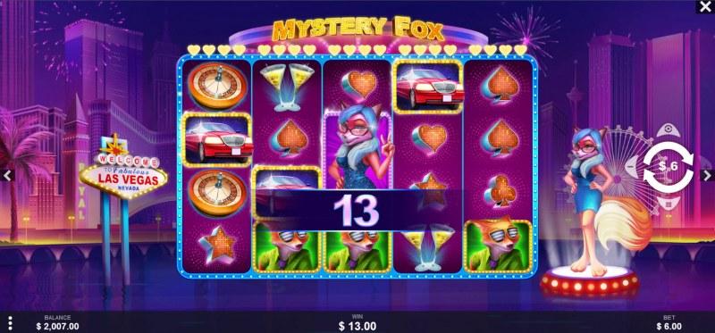 Mystery Fox :: A four of a kind win