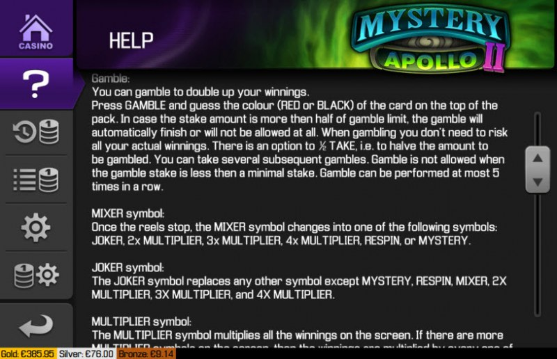Mystery Apollo II :: General Game Rules