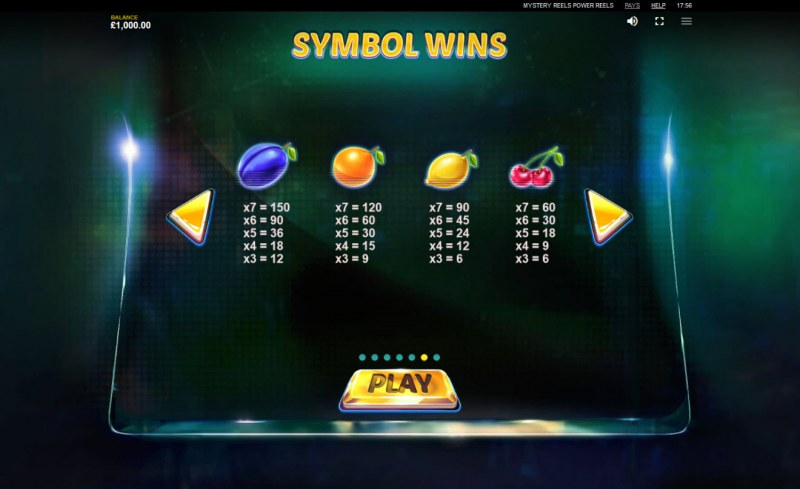 Mystery Reels Power Reels :: Paytable - Low Value Symbols