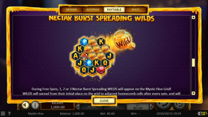 Mystic Hive :: Nectar Burst Spreading Wilds