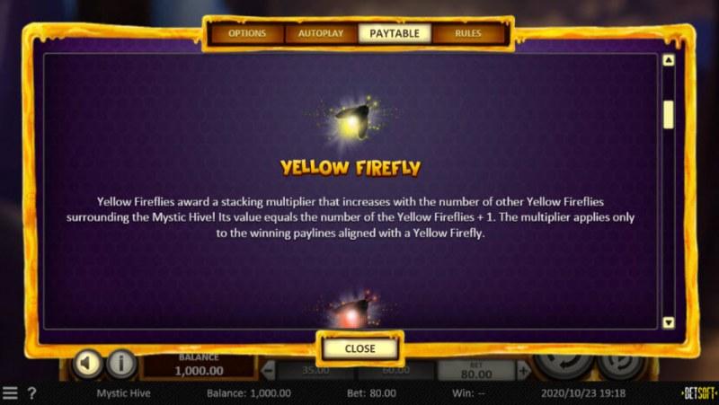 Mystic Hive :: Yellow Firefly