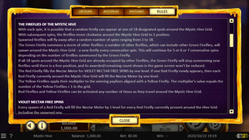 Mystic Hive :: Detailed Rules