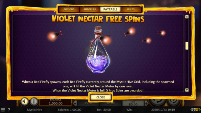 Mystic Hive :: Free Spins Rules