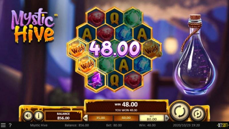 Mystic Hive :: A three of a kind win