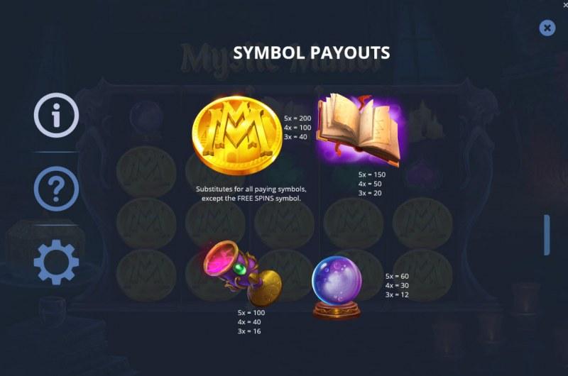 Mystic Manor :: Paytable - High Value Symbols