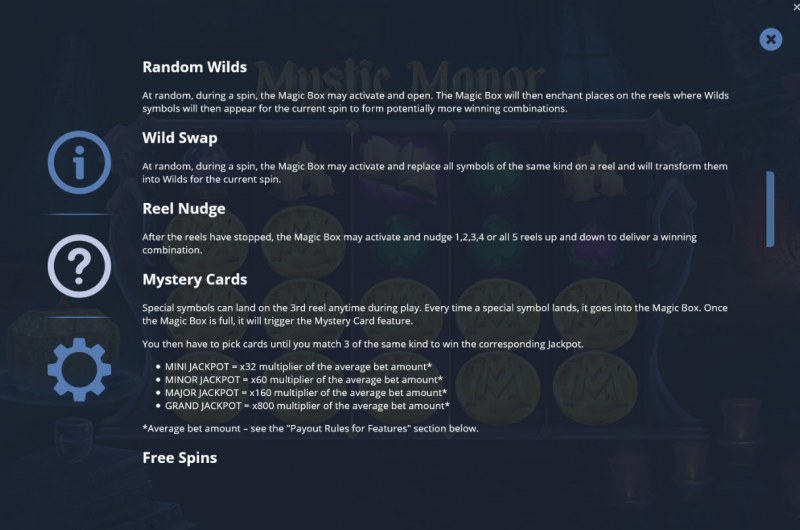 Mystic Manor :: General Game Rules