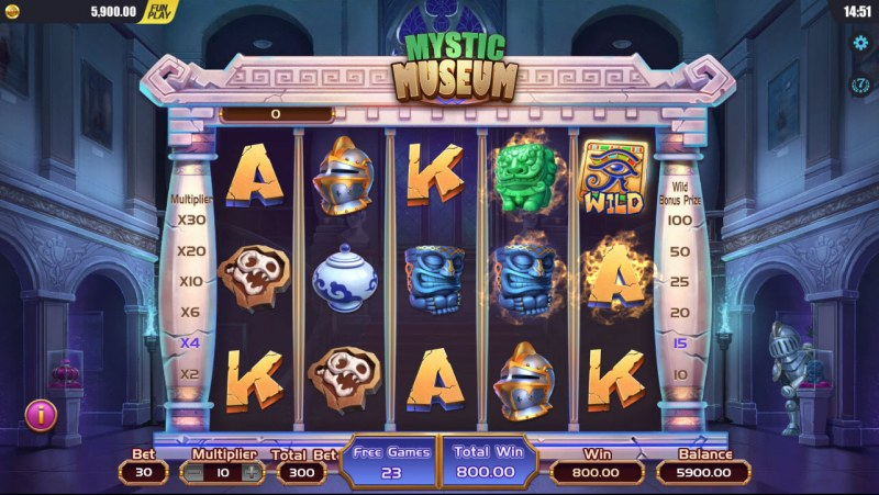 Mystic Museum :: Free Spins Game Board