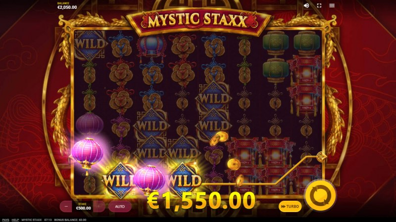 Mystic Staxx :: Multiple winning paylines