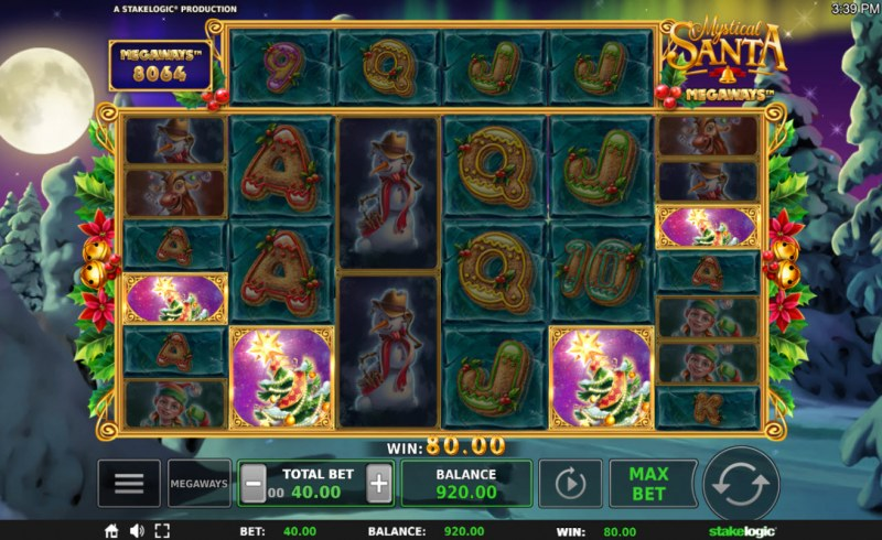 Mystical Santa Megaways :: Scatter symbols triggers the free spins feature