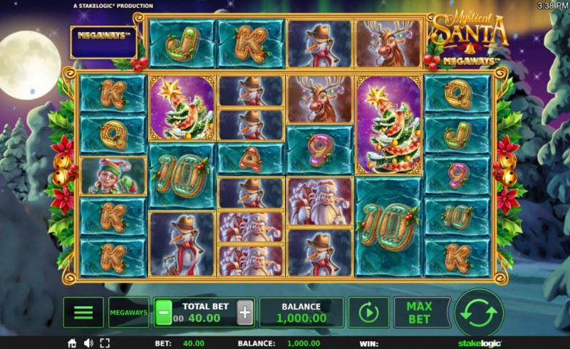 Mystical Santa Megaways :: Main Game Board