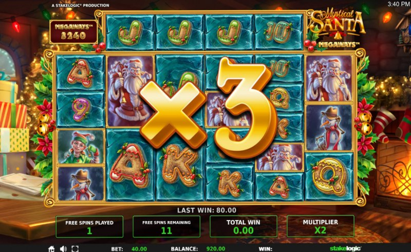 Mystical Santa Megaways :: Win multiplier increases with each free game spin