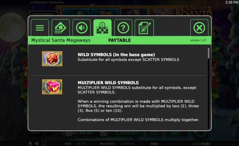 Mystical Santa Megaways :: Wild Symbols Rules